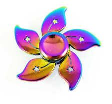 Hand Spinner Tri Fidget Focus Toy Finger Spin Gyro EDC  Autism Alloy Rainbow HG3