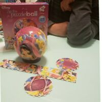 Ravensburger Disney Princess Junior  Puzzle Ball 96 Curved Jigsaw Puzzle Pieces.