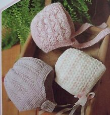 R5 Baby's Bonnet Knitting Patterns / use for Reborn doll / Double Knit