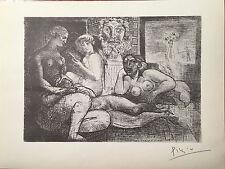 Pablo PICASSO RARA Vollard Suite litografia firmato a mano originale 1956