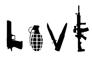 BANKSY LOVE STENCIL REUSABLE FROM A4 180 mc