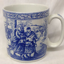 SPODE 1996 BLUE ROOM COLLECTION VICTORIAN ANNUAL CHRISTMAS MUG SKATERS # 2