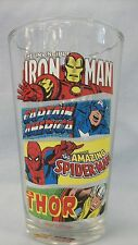 Marvel  ~ 16 oz. Drinking Glass ~ by Vandor ~ Spiderman ~ Thor ~ Iron Man