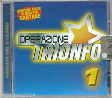 Operazione Trionfo 1 (2002) CD NUOVO Il battito animale. Come saprei. Insieme.