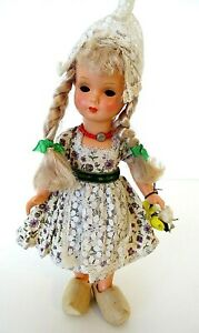 "Holland Doll Celluloid 11"" Dovina Rotterdam Holland Traditional Shoe TLC"