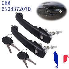 2PCS Poignée de porte avant gauche et droite pour VW Polo OEM 6N0837207D