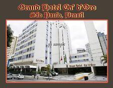 brasil - sao paulo - Grand Hotel Ca' d'Oro - Travel Souvenir Fridge Magnet