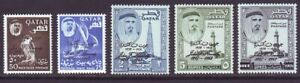 Qatar 1964 SC 42-46 MH Set John F. Kennedy