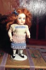 ~ Sweet! Antique German All Bisque Child Doll w/Open Close Glass Eyes #5 ~