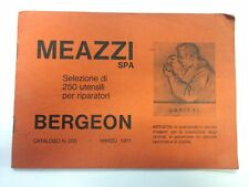 1971 MILANO - MEAZZI SPA Utensili per riparatori BERGEON *Catalogo ILLUSTRATO