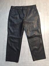 ZARA Women's Faux Leather Trouser(Black, US L/EUR L)