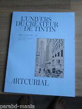 Nouveau artcurial-L univers d Hergé-Pixi-Objets-Bd-Aroutcheff.Estimation,prix