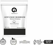 Lion's Mane Mushroom 180 Capsules The First Smart Mushroom?  Fruit Body Powder
