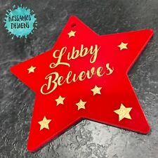 Personalised Christmas Bauble Tree Decoration - Red Believe Bauble xmas eve box