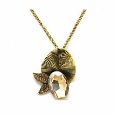 Mixed Metals Oval Charm Costume Necklaces & Pendants