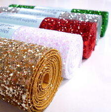 CHUNKY Glitter Material / Fabric MINI ROLL sew, glue or die cut pefect for bows
