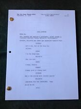"""The Big Bang Theory TV Script Final Draft """"The Griffin Equivalency"""" Episode 204"""