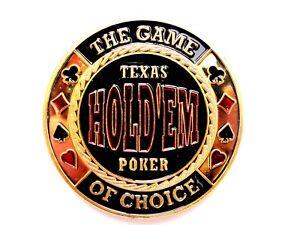 "Pokerguard Poker Card Guard "" Texas Holdèm"" vergoldet Pokerzubehör"