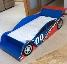 Kidkraft Toddler RaceCar Bed With Mattress &Kiddie ShelfOn End Local Pickup Only