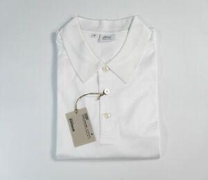 NEW  BRIONI Polo LOGO Short Sleeve Cotton Size XL Us Eu 54 (ZIP18)