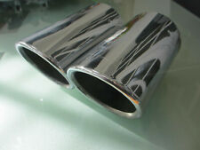 Genuine VW Polo GTi Mk5 6R twin exhaust tailpipe finisher chrome 6R0 253 825