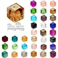100pcs New Crystal Beads Cube Square Loose Spacer DIY Jewelry Making 4/6mm