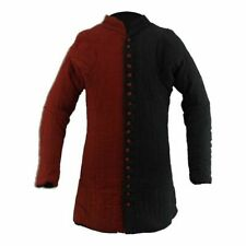 X-Mas Gift Red & Black Thick Padded Gambeson Medieval suit of quilted Sca Larp