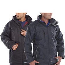 MERCURY Mens Parka Jacket Fleeve Lined Waterproof Taped Seams Work Coat Uniform