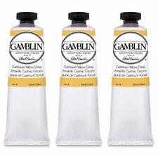 [Case of 3] Gamblin Cadmium Yellow Deep - Series 4 - Artist Grade Oil Color 37ml