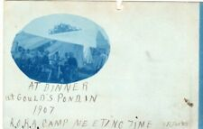 1907 Blue Cyanotype Gould Pond NH K.O.K.A Camp New Hampshire RPPC RP Photo !