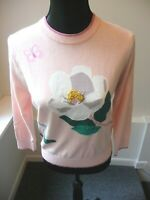Kate Spade NWT Broome Street Pale Pink Flower Sweater Size Small Retail $298