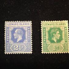 1908-1937 Leeward Islands Postage Stamps, Unsed, Lot of 2