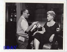 George Cukor Judy Holliday VINTAGE Photo It Happened To You candid on set
