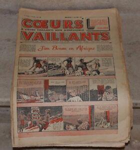 coeurs vaillants, année 1939, tintin en syldavie, jim boum, jo et zette.........