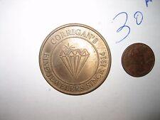 """VINTAGE Corrigan's Fine Jewelers $25 REDEEMABLE 1 1/2"""" COIN TOKEN"""