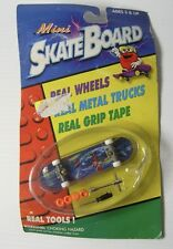 Vintage 1998 OZBOZZ Mini Finger Skateboard Build your own and Spare Wheels Tools