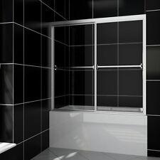 """SUNNY SHOWER Bypass Sliding Bathtub Glass Doors 60"""" Full Framed Clear Glass"""