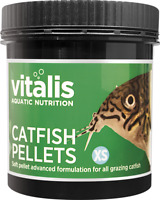 VITALIS Catfish Pellets 140g XS 1mm NEW WEIGHT Great everyday food for Corydoras