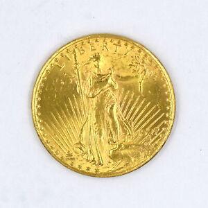 1927 $20 SAINT GAUDENS DOUBLE EAGLE 90% GOLD US COLLECTIBLE COIN UNC DETAILS