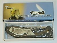 "Frost Cutlery Executive Wildlife Series ""Eagle"" Folding Pocket Knife 15-828E New"