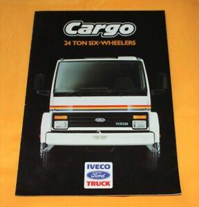 IVECO Ford Cargo 24 Tonne 1987 (GB) LKW Prospekt Truck Brochure Camion Catalog