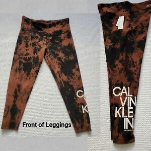 CALVIN KLEIN XL Performance WOMEN'S Athletic Exercise Tie Dye LEGGINGS Pant NWT