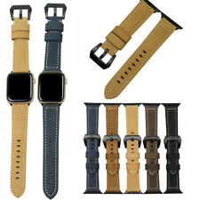 Vintage Genuine Leather Strap Watch Band For Apple Watch iWatch Series 2 3 4 5 6