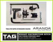 TAG 270 (600lb) Weight Distribution Hitch Kit / Anti Sway Bars / Level Riders
