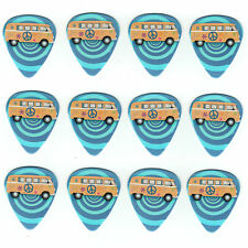 12 Pack PEACE HIPPIE VW VAN Medium Gauge 351 Guitar Picks Plectrum