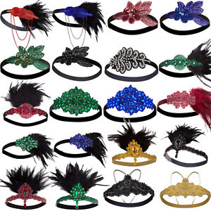 1920s Flapper Headband Gatsby Headpiece Roaring 20s Wedding Hair Accessories