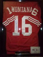Joe Montana Autographed & Framed Red San Francisco 49ers Jersey TRI-STAR COA