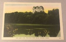 FORT GARRY HOTEL, WINNIPEG MB vintage white-border postcard c.1946 Manitoba