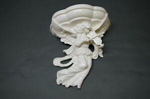 Porcelain Console 24 CM Shelf Console Wandpodest Antique Style Baroque Angel