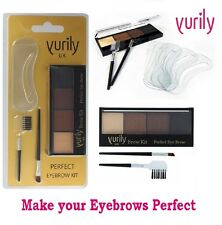 Yurily EYEBROW KIT Angled Brush Stencils Powders Comb Make Up Eye Brow Kit Set